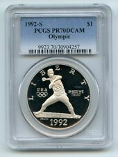 1992 S $1 Olympic Silver Commemorative Dollar PCGS PR70DCAM