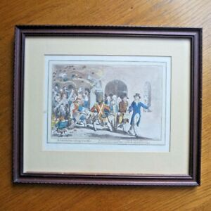 """James Gilray """"Integrity Retiring From Office"""" (1801) Print Coloured William Pitt"""