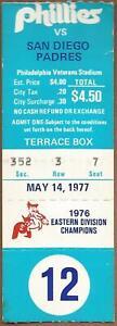 Dave Winfield HR #58 5/14/1977 Padres at Phillies Ticket Stub Davey Johnson 2 HR