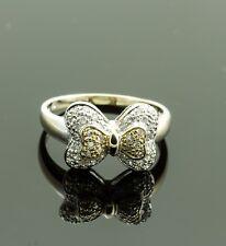 14K White Gold Pave Diamond Bow Tie Ring