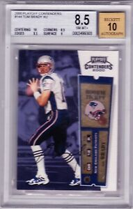 2000 Playoff Contenders Tom Brady BGS 8.5 10 Auto Rookie Patriots/Buccaneers
