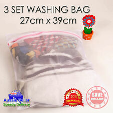 3 of 27x39 Washing Clothes Laundry Wash Bag Zipper White Mesh Bra Delicate