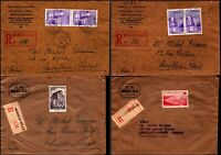 Monaco 1940-1950 Registered Monaco Ville Finance Department to Levallois-Perret
