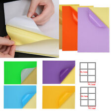A4 Full Sheet Mixed Color Label Self Adhesive Tag Sticker Shipping Paper Tag Lot