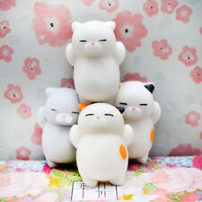 2x Kawaii Slow Soft Rising Squishy Squeeze Cute Cat Expression Smile Face Toy UK