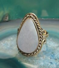 Blue Stone Peru Ethno Inka Maya Ring Alpaca Nickel Silver Angelit Light