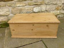 Victorian Pine Box  Original with Blacksmith Made Hinges
