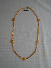 CHANEL sautoir vintage 1990's métal doré fabriqué en France (jamais utilisé)