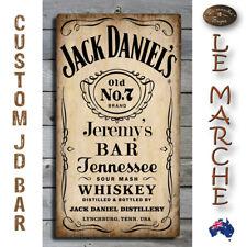 CUSTOM NAME - JACK DANIELS Wooden Rustic Plaque / Sign (FREE POST) 🥃 Daniel's