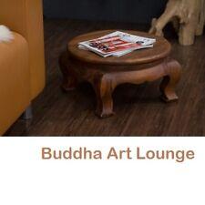 Beistelltisch Rund 50x27 Holz Couchtisch Nachttisch Opiumtisch Blumenhocker Thai