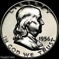1956 Franklin Half Dollar ~ GEM Proof Uncirculated ~ 90% Silver US Coin