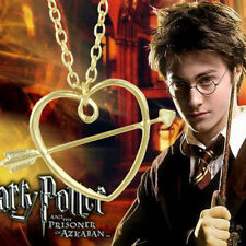 Harry Potter Ronald Horcrux Stone Mandrel Gold Pendant Chain Necklace Cosplay