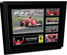 MICHAEL SCHUMACHER F1 FERRARI SIGNED LIMITED EDITION FRAMED MEMORABILIA
