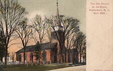 Postcard The Old Church on Green Hackensack NJ