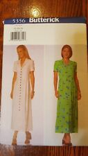 5356 New Easy Butterick Sewing Pattern For Misses Dresses Size 12, 14, 16  UNCUT