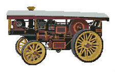 """Showmans Steam Traction Engine Counted Cross Stitch Kit 12.5"""" x 7.75"""""""