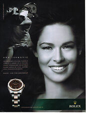 Publicite ADVERTISING 014 2011 rolex ana ivanovic