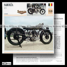 #028.09 SAROLEA 23 S 1928 (23S) Fiche Moto Classic Motorcycle Card