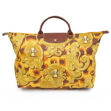 LONGCHAMP Pliage Xlarge Jeremy Scott Dollar Yellow Flourish Bag Handbag NEW