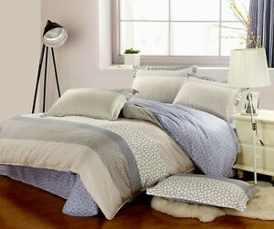Brand New 3 Pieces 400 thread WATER ELEMENT DOUBLE Size Duvet Doona Cover Set