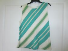 Jones New York Beautiful Sleeveless Sweater XL 100% Cotton Turquoise Gorgeous!