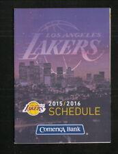 Los Angeles Lakers--2015-16 Pocket Schedule--Comerica Bank