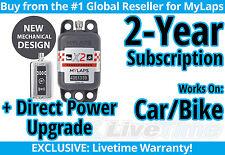 MyLaps X2 Car/Bike Direct Power Transponder w/ 2-year Subscription -AMB Flex 260