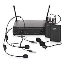 SubZero SZW-30 Dual Lavalier and Headset Wireless Microphone System