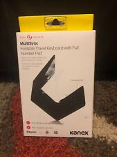 KANEX MULTISYNC FOLDABLE TRAVEL KEYBOARD WITH FULL NUMBER PAD BLUTOOTH IOS NEW