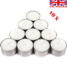 10 x DEEP TEA LIGHT CANDLES Long 8-9 Hours Large Burning Time Table Nightlights