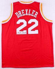 835800e58 Clyde (The Glide ) Drexler Signed Houston Rockets Throwback Jersey (JSA COA)