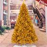Gold 4 5 6 7 Feet Tall Christmas Tree Stand Holiday Season Indoor Outdoor Trees