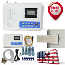 1 Channel 12 leads ECG Machine Electrocardiograph with PC Analysis Software FDA