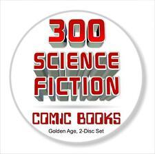 300+ Science Fiction Comic Books Golden Age, 2 Cds, 'Space Adventures,' etc.
