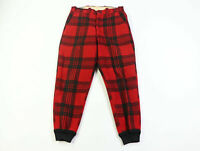Vintage 50s Woolrich Mens Size 34x30 Wool Buffalo Plaid Hunting Pants Joggers