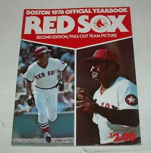 BOSTON RED SOX 1976 YEARBOOK MLB SOUVENIR MAGAZINE LUIS TIANT JIM RICE FRED LYNN