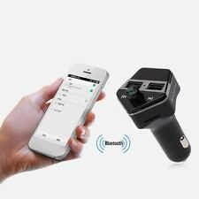 FM Transmitter Bluetooth Car Kit MP3 USB Charger Handsfree for S6 S5 S7 iPhone 7