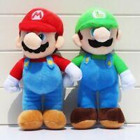 """Set of 1/2Pcs Super Mario Bros. Stand LUIGI & MARIO Plush Doll Stuffed Toy 10"""""""