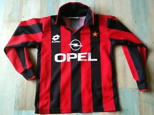 MAILLOT FOOT LOTTO MILAN AC OPEL TAILLE 10 ANS TBE