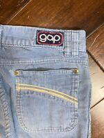 1970s Vintage GAP Corduroy Pants Powder Blue Flare Bottom 32x32 (28x30)