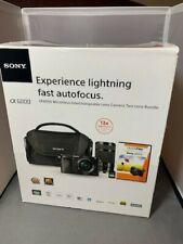 Sony Alpha a6000 Mirrorless  Camera w/ lens BUNDLE NIB Look