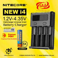 Nitecore new i4 Universal Charger + 8X 1.2V 2600mAh AA NiMh Rechargeable Battery