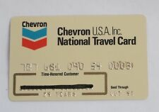 Chevron USA Inc Gas Travel Credit Card 1991 Expired Unsigned Yellowed