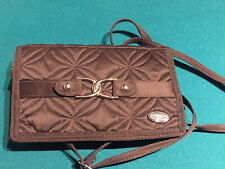 Quilted brown purse w/ removable shoulder strap - excellent condition; lt.weight