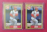 1987 O-Pee-Chee & Topps #200 PETE ROSE 2 Card Lot (Reds) (NM-MT) *FREE SHIP* WOW