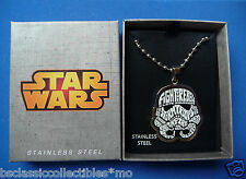 Star Wars Stormtrooper Pendant Necklace Typography Art - Star Wars Jewelry New!!