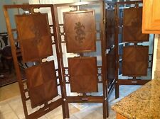 Japanese Wood Folding Screen (4 panels )