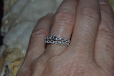 BEAUTIFUL 10KT WHITE GOLD/DIAMOND(.25+TCW)BRAIDED DESIGN RING(2.7 GRAMS)SIZE 7
