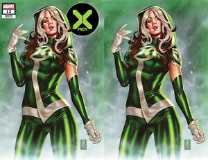 X-Men 12 Marvel 2020 Mark Brooks Rogue Virgin Set Of 2 Variant GGA Pin-Up