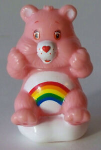 """Care Bears Cheer Bear 2.5"""" Figure (Cheer Sitting with Both Hands Up)"""